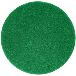 green floor scrubbing pad