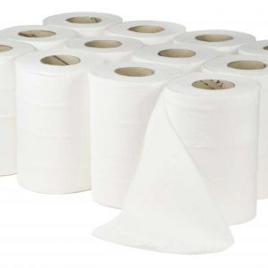 multiple rolls of mini centrefeed hand towels