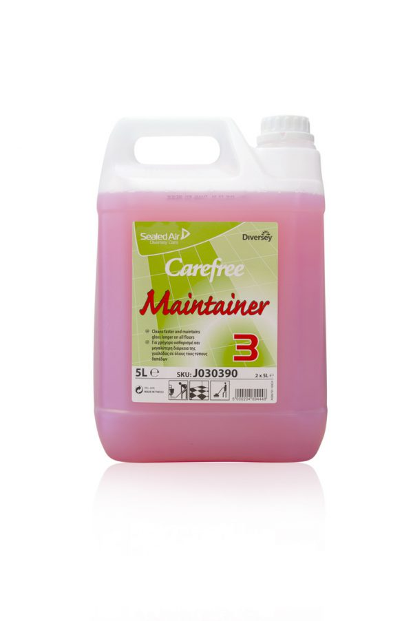 johnsons diversey pink carefree wax emulsion floor maintainer 5l