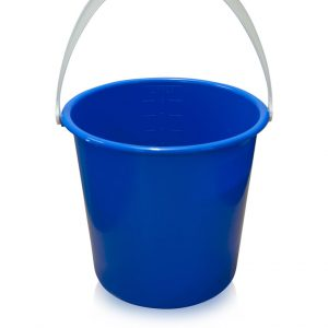 plastic blue 2 gallon bucket
