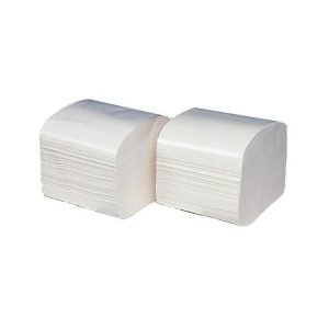 two piles of toilet paper in separate sheets