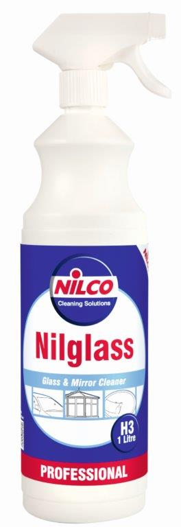 nilco nilglass progessional glass cleaning trigger spray bottle